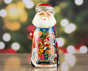 Hand Carved Wooden Santa Claus With Nutcracker Fairytale Wooden Santa Figurines