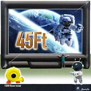 Sewinfla 45ft Inflatable Movie Screen With1500 Blower Front And Rear Projection