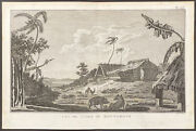 Cook Voyages - View, Island Rotterdam. 2-39, 1785 South Pole Original Engraving