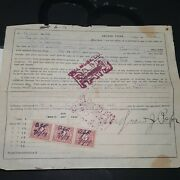 1919 Abilene Texas Deed/bill Of Sale Land Tax Letter With 3 8 Cent Doc Tax...