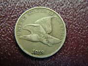 1858 Ll United States Flying Eagle Cent - Nice Early Copper/nickel Cent