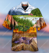 Beautiful Landscape In National Parks Hawaiian Shirt Adult Full Size S-5xl