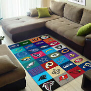 New - Football Team Collection Rug Living Room Decor Family Nice Gift For Fan