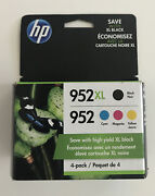 Genuine Hp 952xl Black And 952 Color Ink Combo 4-pack Exp 2022/2023