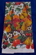 Nwt Vintage Lot 2 Linen Kitchen Dish Towels Fruit Bowl And Basket Nos Red New
