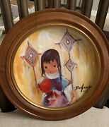 Degrazia Collector Wooden Framed Plates - Set Of 2