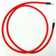 Marine Boat Rv Positive 2 Gauge Red Battery Wire Cable W/ Lugs And Covers 7ft New