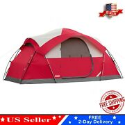 Coleman 8person Outdoor Camping Dome Tent Waterproof Camp Hiking Shelter Folding