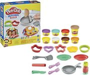 Play-doh Kitchen Creations Flip 'n Pancakes Playset 8 Compounds 14 Tools
