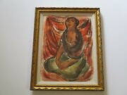 Norma Chuan Painting Vintage Mid Century Portrait Mexico Mexican Modernism Rare