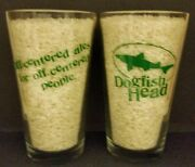 Wow 2 Dogfish Head Brewing Pint Glasses New Off-centered Ales Pint Glasses