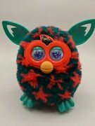 2012 Furby Interactive Toy Green With Red Stars Tested Working