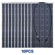 Solar Panel Kit For 1000w Home Rvs Marine Roof Mount Replacement Power Generator