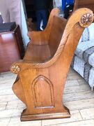 Nice 48 Antique Church Pew/ Blue Mound, Illinois Church/ Delivery Available