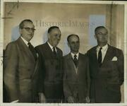 1953 Press Photo Walter Miles Poses And Other New Orleans Traffic Club Officers