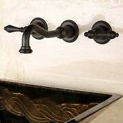 Wall-mount Oil-rubbed Bronze Vessel Bathroom Faucet Rubbed