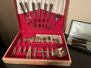 Vintage Silver Cutlery Wildrose Design Wm Rogers And The Connoisseurs Choice Sets