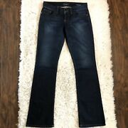 Guess Daredevil Boot Cut Jeans Women's Size 28 Stretch Low Rise Dark Wash