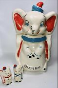 1940s 4 In 1 Disney's Dumbo Turnabout Cookie Jar Salt And Pepper Shakers
