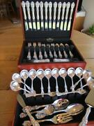 Old M Reed Barton Francis I Sterling Silver Flatware Set-s-12+servers80pexcl