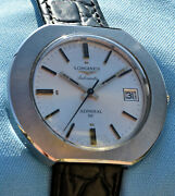 Rare Longines Admiral Hf Automatic Steel Case Ufo 1972 In Perfect Condition
