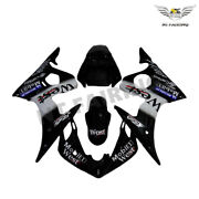 Ft Fairing Kit Black Injection Fit For Yamaha 2003-2005and06-09 R6s Yzf R6 Hg R039