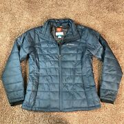 Columbia Thermal Coil Grey Puffer Jacket Womens Large