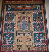 Vintage Egyptian Colorful Applique Quilt Patchwork/wall Hanging Tapestry