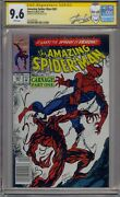 Amazing Spider-man 361 Cgc Ss 9.6 Signed Stan Lee 1st Carnage Newsstand Upc