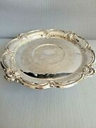 Vintage Silver Plated Cake Stand 13.5