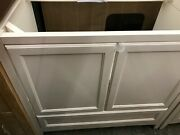 Fresca Oxford 83 Inch Antique White Traditional Double Sink Bathroom Cabinets