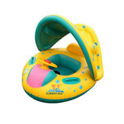 Baby Swimming Ring Pool Floats Boat Sunshade Canopy Kids Inflatable Pool Seat
