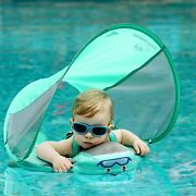 Baby Safety Float Non-inflatable Swim Float With Canopy Swimming Ring Sunshade
