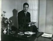 1965 Press Photo Personnel Services Owner M. David Lowe In His Office