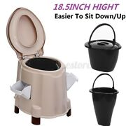 Portable Toilet Seat Potty Flush Commode Outdoor Indoor Travel Camping Hiking