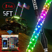 5ft Chasing Light Spiral Antenna Rod Flag Remote 6000 Colors 300 Modes