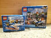 Lego City 60136 And 60011. City Police Starter Set And Surfer Rescue