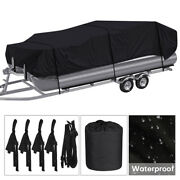 Waterproof Boat Cover 210d Oxford V-hull17ft To 24ftpontoon Trailerable Cover