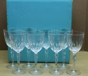 And Co Crystal Wine Claret Crystal Glass Chrysanthemum Pattern Set 8