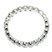 And Co. Pt950 Diamond Ring Jazz Full Circle 3rd Of