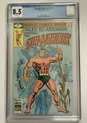 Tales To Astonish 1 Cgc 8.5 / White Pages Marvel 1979 2nd Series Sub-mariner
