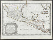 Sanson -mexico And Central America. 2-30 1670 Cartes Folio Hand-colored Engraving