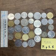 Italian Coin Lot Good Sized Mix See Photos Of Both Sides Free Shipping P.p1.5