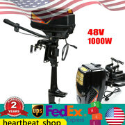 Electric 48v Outboard Motor 1000w 5 Km /h Thrust Boat Engine Propeller Top
