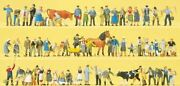 Preiser Ho Scale 1/87 Farm Set With Animals And Accs | Bn | 13001