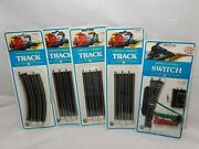 Bachmann N Scale Remote Control Right Switch 44665 And 4 6 Pc. 5 Straight Track