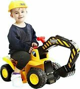 Play22 Toy Tractors For Kids Ride On Excavator - Music Sounds Digger Scooter ...