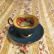 Aynsley Orchard Gold Cup And Saucer Millennium Limited Color Bone China Vintage