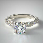 14k Solid White Gold 1.13 Ct Round Cut Natural Diamond Wedding Ring Size 5 6 7 8