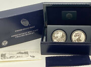 2013 American Eagle West Point Two-coin Silver .999 Set U.s. Mint W/boxandpaper